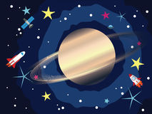 Saturn in the Space Stock Photo