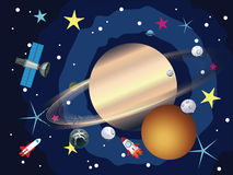 Saturn in the Space Stock Photos