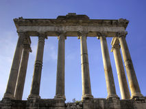 Saturn Temple on the Forum Romanum Royalty Free Stock Photo