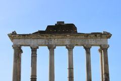 Saturn Temple in Rome Stock Photo
