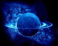 Saturn in the universe Stock Photos
