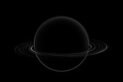 Saturn in the universe Stock Images