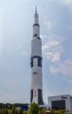 Saturn V. On display at the Marshall Space Flight Center in Huntsville Alabama Stock Photos