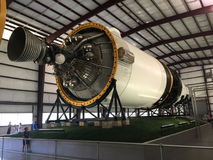 Saturn V moon rocket in Space center Houston TX Stock Photos