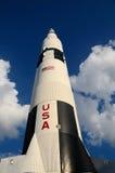 Saturn V nelle nuvole Fotografia Stock