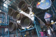 Saturn V rakieta przy centrum lotów kosmicznych imienia johna f. kennedyego zdjęcia royalty free