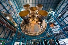 Saturn V rakieta przy centrum lotów kosmicznych imienia johna f. kennedyego Zdjęcie Royalty Free