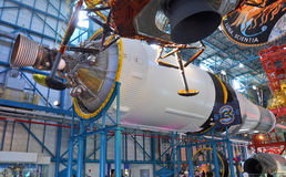 Saturn V Rakietowi silniki, przylądek Canaveral, Floryda obrazy stock