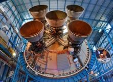 Saturn V Rakietowi silniki, przylądek Canaveral, Floryda fotografia stock