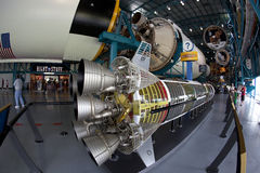 Saturn V rocket. The Saturn V rocket on display in the Kennedy Space Center in Florida, USA Stock Photos