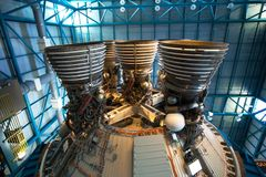Saturn V Rocket Engine, Kennedy Center Stockfotos