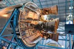 Saturn V Rocket Engines, Cape Canaveral, Florida. Saturn V Rocket Engines displayed in Apollo/Saturn V Center, Kennedy Space Center Visitor Complex, Cape Stock Image