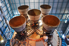 Saturn V Rocket Engines, Cape Canaveral, Florida. Saturn V Rocket Engines displayed in Apollo/Saturn V Center, Kennedy Space Center Visitor Complex, Cape Royalty Free Stock Photo