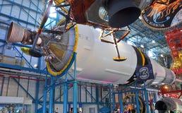 Saturn V Rocket Engines, Cape Canaveral, Florida Arkivbilder