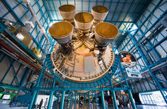 Saturn V rocket at Kennedy Space Center Stock Photos