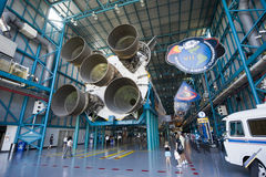 Saturn V rocket at Kennedy Space Center Royalty Free Stock Image