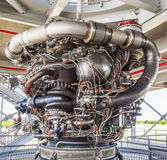 The Saturn V was a multistage liquid-fuel expendable rocket stock photo
