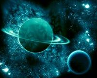 Saturn w wszechświacie Zdjęcia Stock