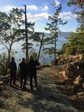 Saturna νησί, Βρετανική Κολομβία, Καναδάς - 1 Ιανουαρίου 2016: Α στοκ εικόνα με δικαίωμα ελεύθερης χρήσης