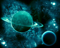 Saturne dans l'univers Photos stock