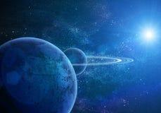 Saturne réaliste illustration libre de droits