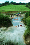Saturnia Hot Springs Photos libres de droits