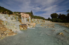 Saturnia Hot Springs in Italy Stock Photos