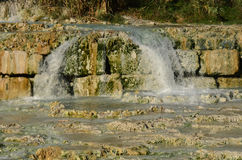 Saturnia Hot Springs Waterfall Royalty Free Stock Images