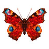 Minimalistic butterfly in low poly style. Geometric butterfly. minimalistic butterfly in lowpoly style. butterfly wings are made in a geometric style vector illustration