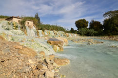 Saturnia Thermal Baths in Italy Stock Images