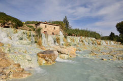 Saturnia Thermal Baths in Italy's Tuscany Royalty Free Stock Images
