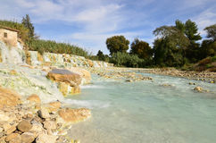 Saturnia Thermal Baths in Tuscany Italy Stock Images
