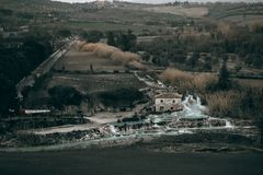 Saturnia thermal river in Tuscany royalty free stock photography