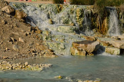Saturnia Thermal Springs in Italy Stock Photography