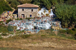 Saturnia thermal springs, Tuscany Royalty Free Stock Image