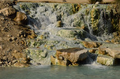 Saturnia Thermal Springs in Tuscany Stock Photo