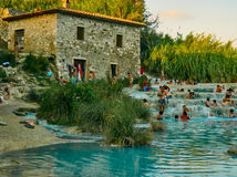 Saturnia Therme Royalty Free Stock Photography