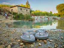 Saturnia Therme. In Italy Tuscany stock photography