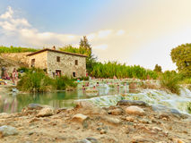 Saturnia Therme. In Italy Tuscany royalty free stock photos
