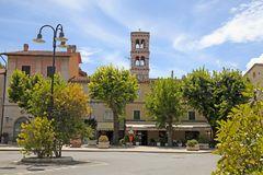 Saturnia, Tuscany, Italy. SATURNIA, ITALY - JULY 27, 2017: Cityscape in Saturnia, Tuscany, Italy. Saturnia is tiny and pretty stone hilltop village in southern stock photography