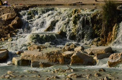 Saturnia's Thermal Hot Springs in Italy Royalty Free Stock Photos