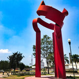 Saturnina-Tür-Skulptur Stockbild