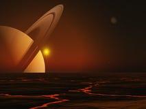 Saturno Fotografia Stock