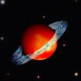 Saturno com anel ao redor ilustração stock