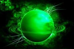 Saturno nell'universo Fotografia Stock