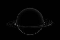 Saturno nell'universo Immagini Stock