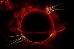 Saturno nell'universo Fotografie Stock Libere da Diritti