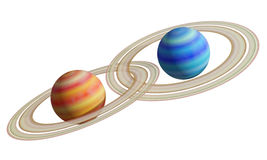 Saturns Royalty Free Stock Images