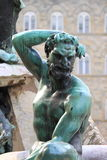 Satyr. As part of the Fountain of Neptune in Florence, Italy Royalty Free Stock Photos