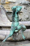 Satyr. As part of the Fountain of Neptune in Florence, Italy Royalty Free Stock Photo